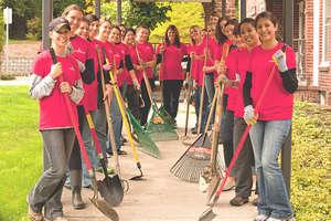 Garden clean up at White Shield