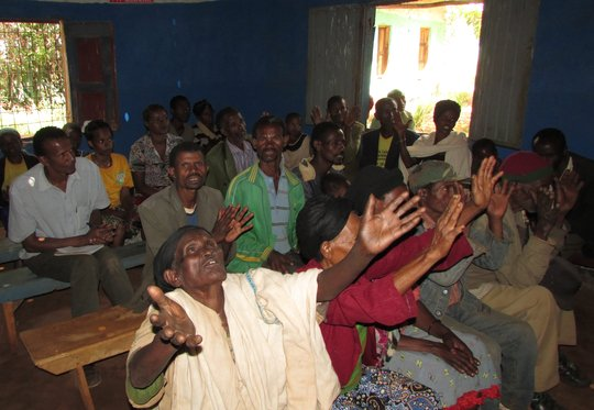 Patients at one of the Mossy Foot clinics