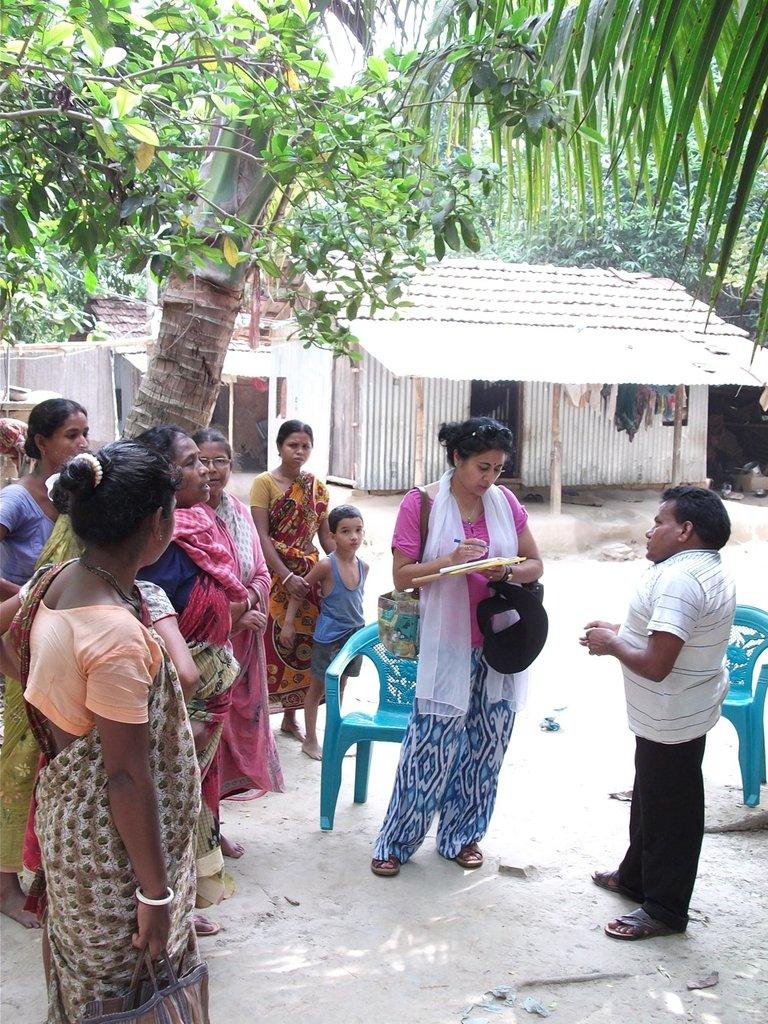 Meeting with panchayat members