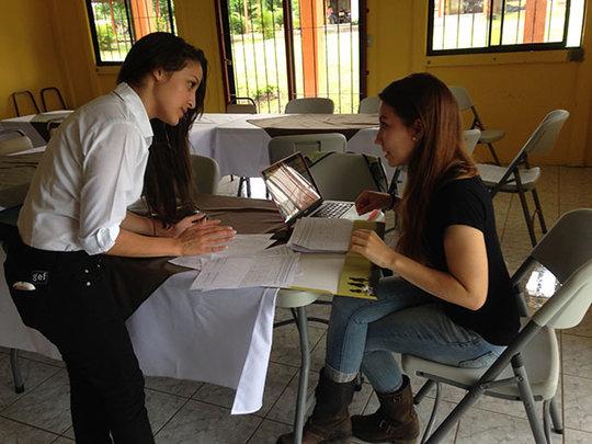 Tronadora student with Gretchen