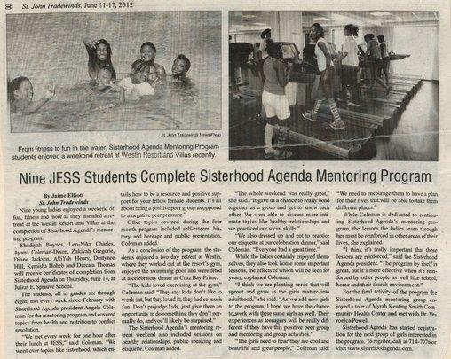 Sisterhood Mentoring Article-Tradewinds