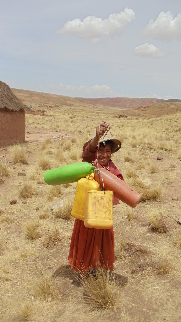 A young girl sent to collect water.