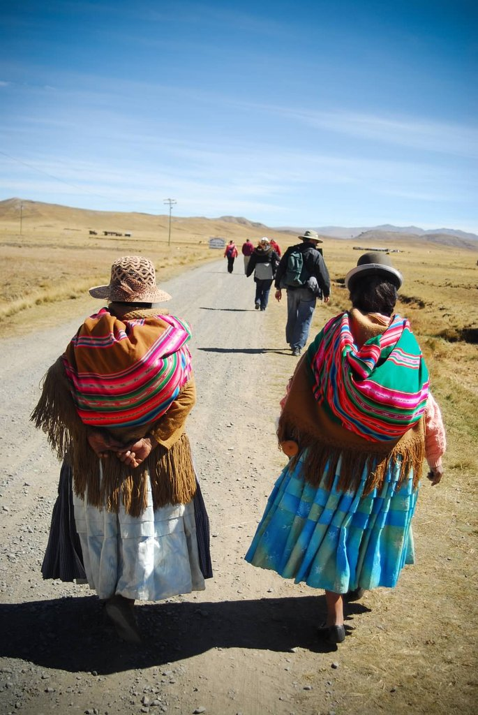 The Altiplano, a plateau at 13,000 ft among the Andes Mountains in Bolivia, is where these communities struggle to survive and preserve their unique culture. QBL supports vital development programs that helps combat the migration to the city where their heritage is lost.  Elle Masri