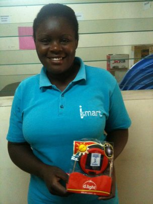 Evelyn Markets a New D.Light Solar Lamp Product