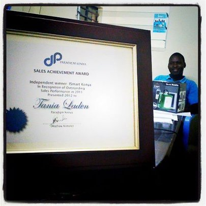 iSmart Receives Sales Award from Paradigm Project