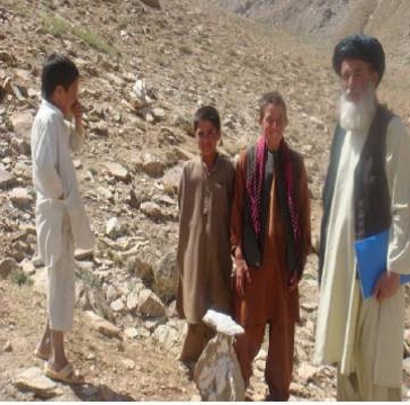 Formerly mine-contaminated land in Afghanistan