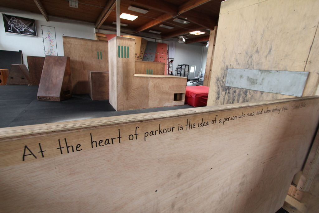 At the heart of parkour...