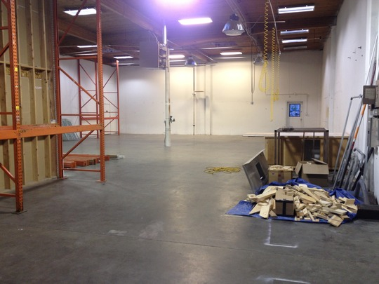New empty warehouse space to fill