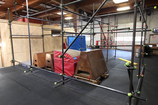 the new expanded cage (with lasers)