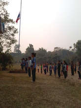 The last flag ceremony for the school year!