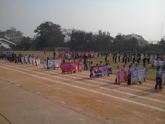 Sports Day Parade at Mae Sai Stadium