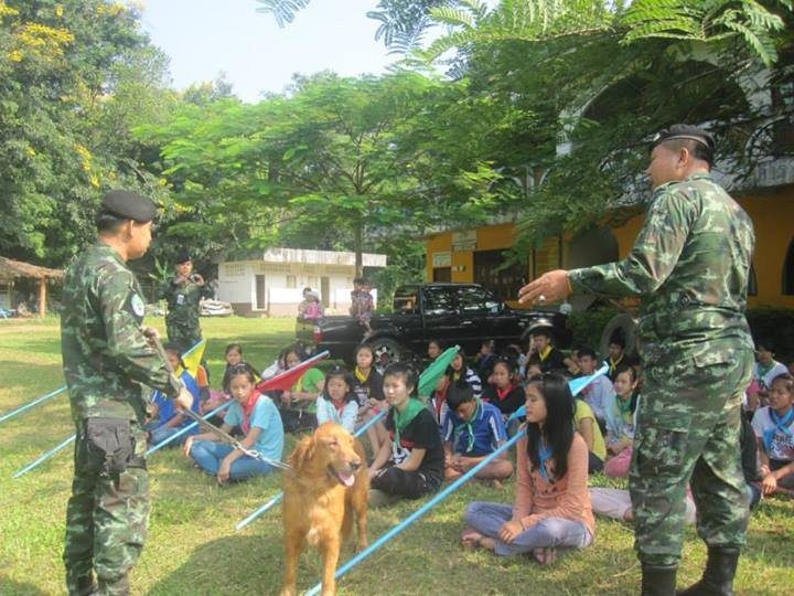 Soldiers Demonstrate Canine Training