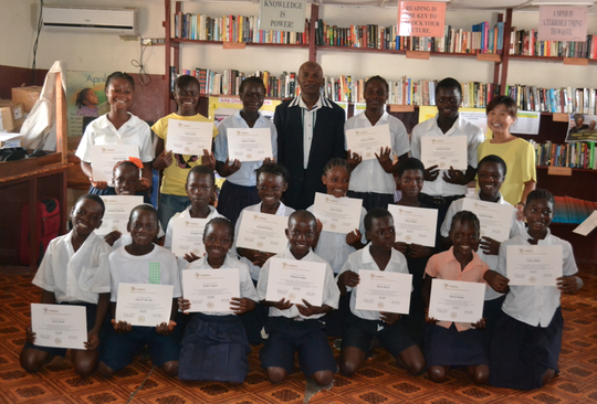 The little ones with their certificates, so proud!