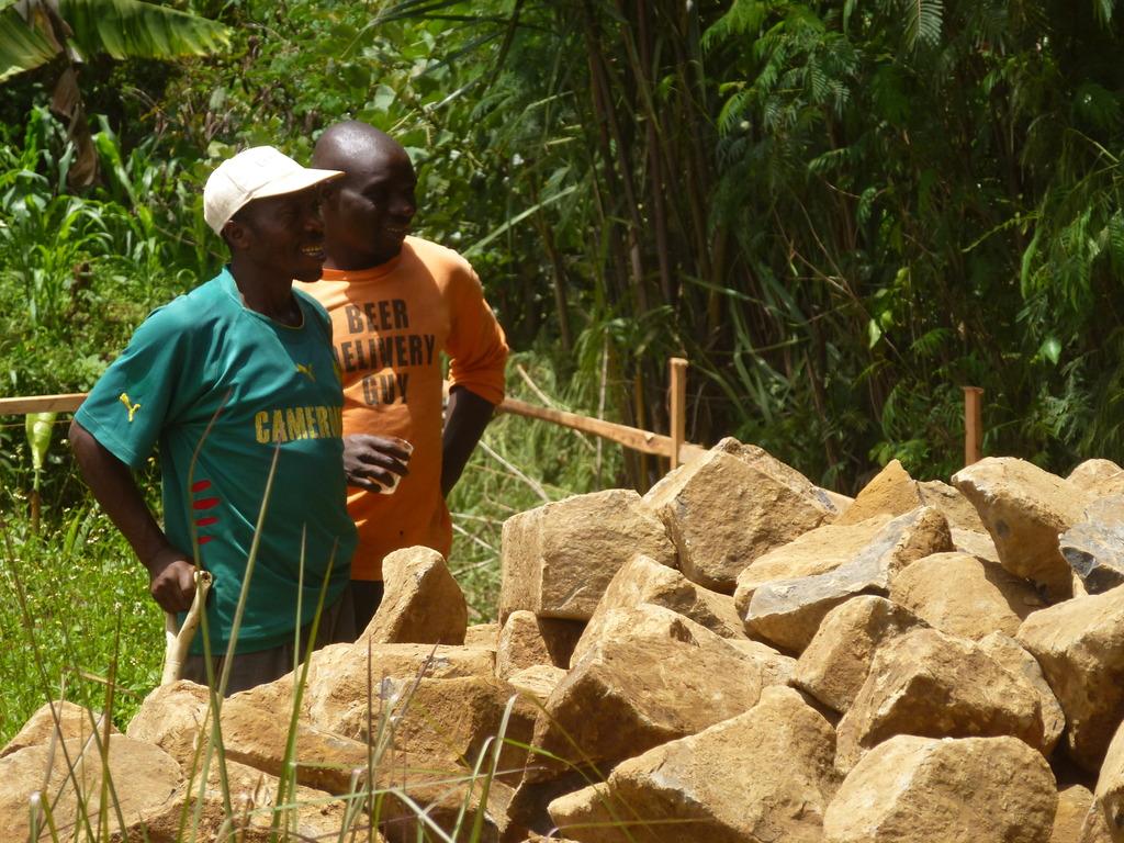 Community members Volunteering at constructionsite