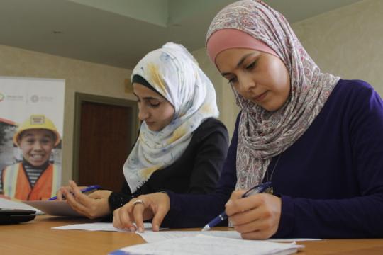 Alaa and Rawan during TYO trainings