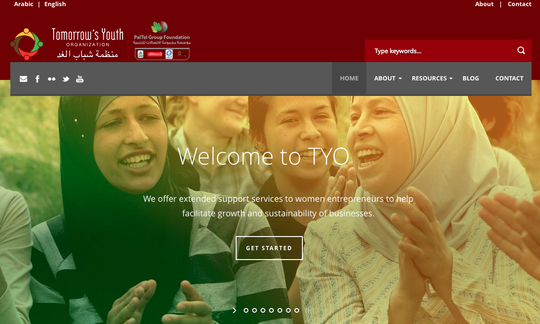 The homepage of the new online Toolkit