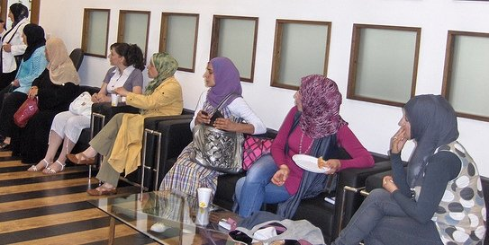 WEL participants prepare for a training