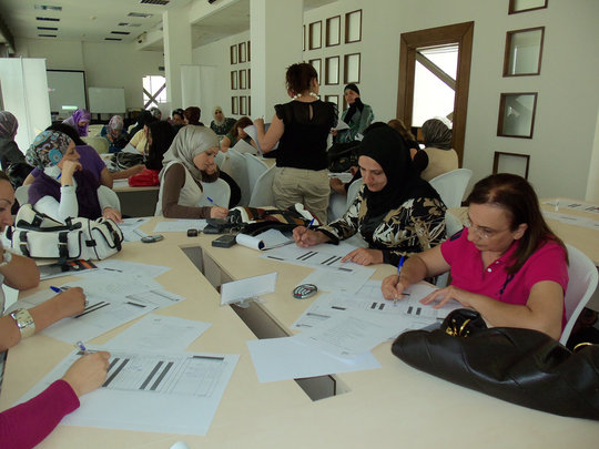 Program participants hard at work!
