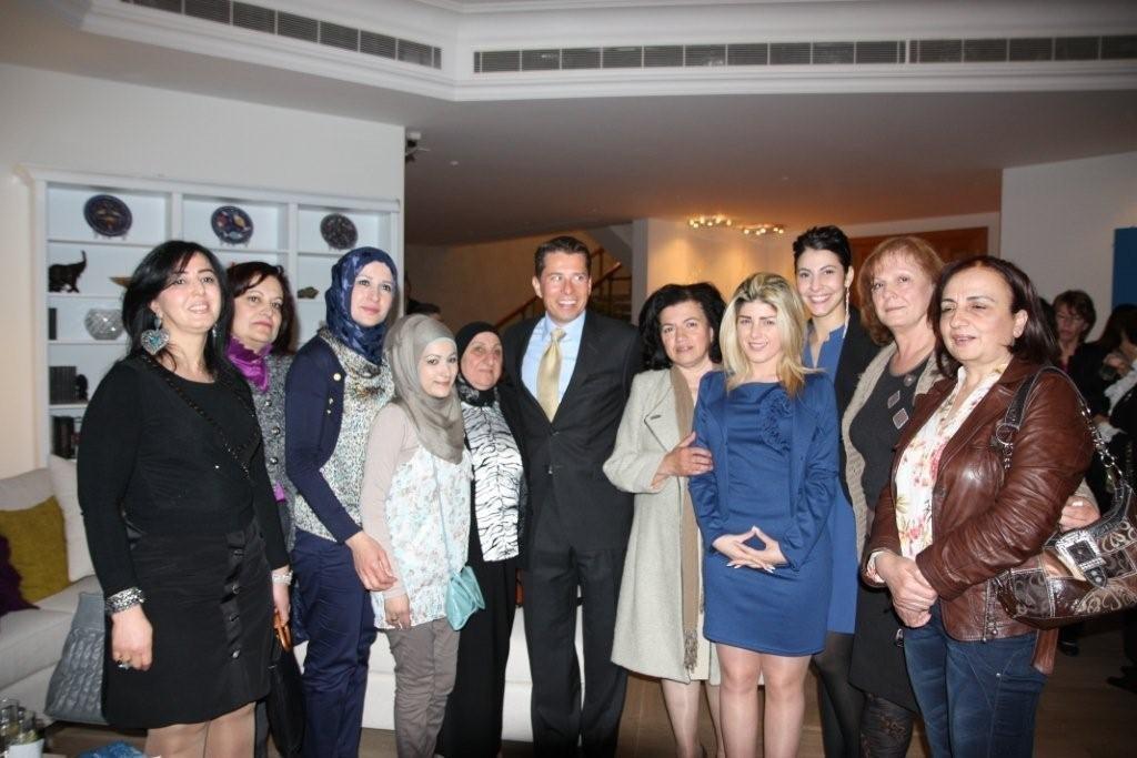 WEL women at Ambassador Fletcher