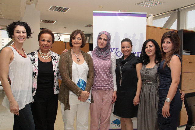 WEL women with Cherie Blair of Cherie Blair Fdn.