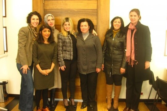 The Cherie Blair Foundation team pays a visit