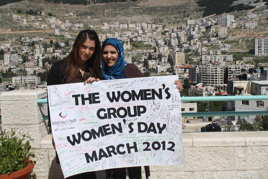 The women celebrate International Women