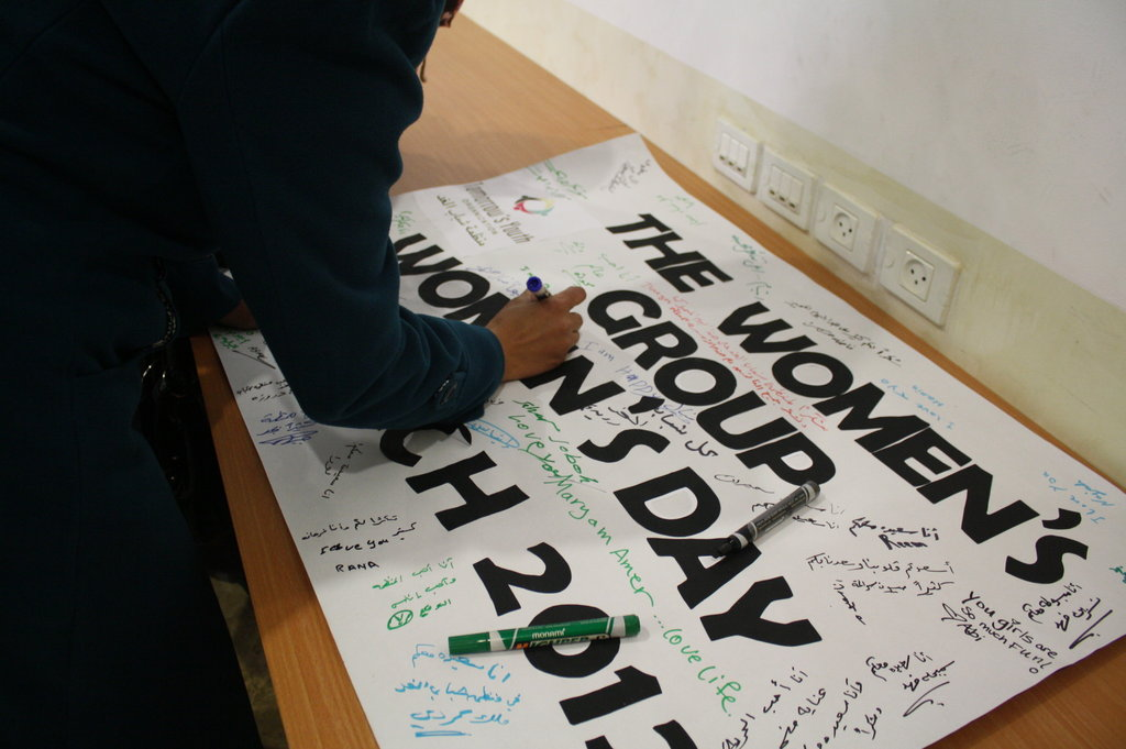 Building banners to celebrate