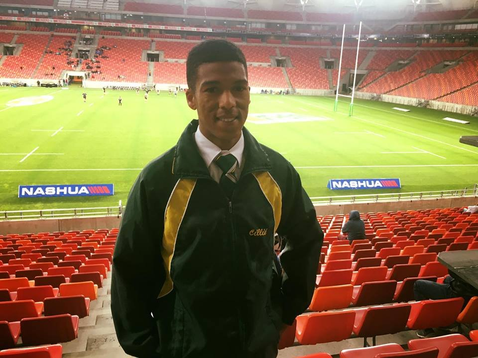 Proud prefect and first team rugby star!