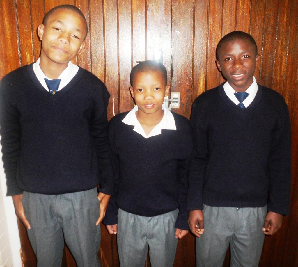 Very proud boys in their school uniform!
