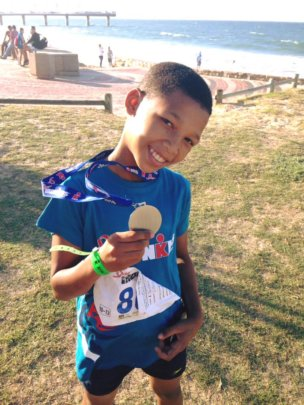 Dream. Believe. Achieve - one of our Iron Kids!