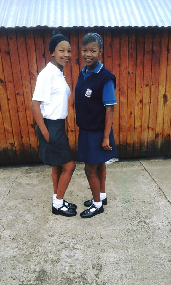 Two sisters excited to be starting new schools!