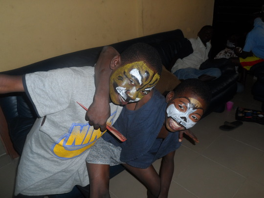 Face painting at Fun Time