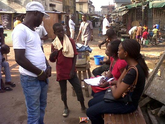 Ayo and Ifeoma on outreach
