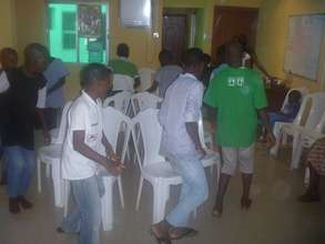 Musical Chairs at our monthly birthday parties