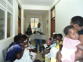 Health talk to mothers during immunisation day