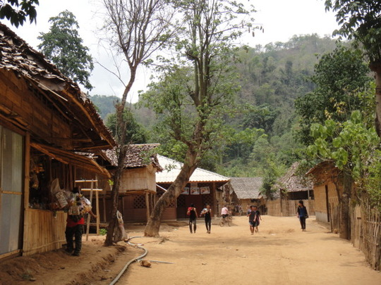 The refugee camp