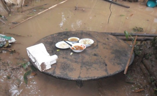 A flood interrupted meal