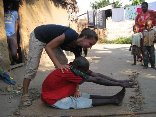 Volunteer Emily with one of UKUN