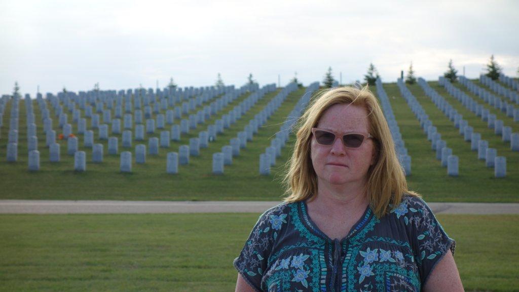 Jane Wells at N.D. Veterans Cemetery, Sept. 2016
