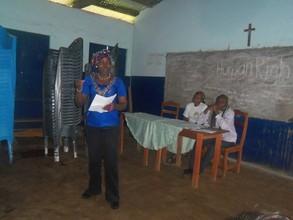 Elizabeth gives thanks and testimony
