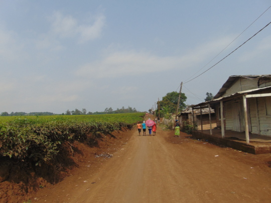 4 applicant girls leading us to their houses