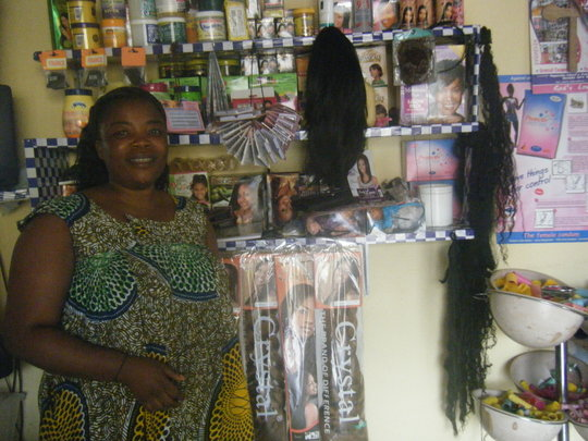 Beneficiary expanding her saloon Business