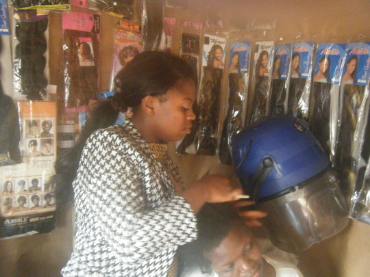 Beneficiary of saloon business putting donated ite