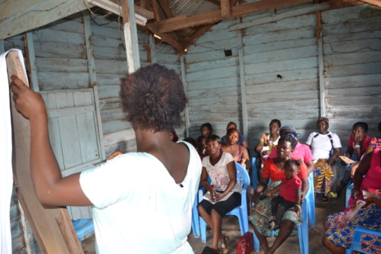 Project participant  (Blanche) teaching new girls