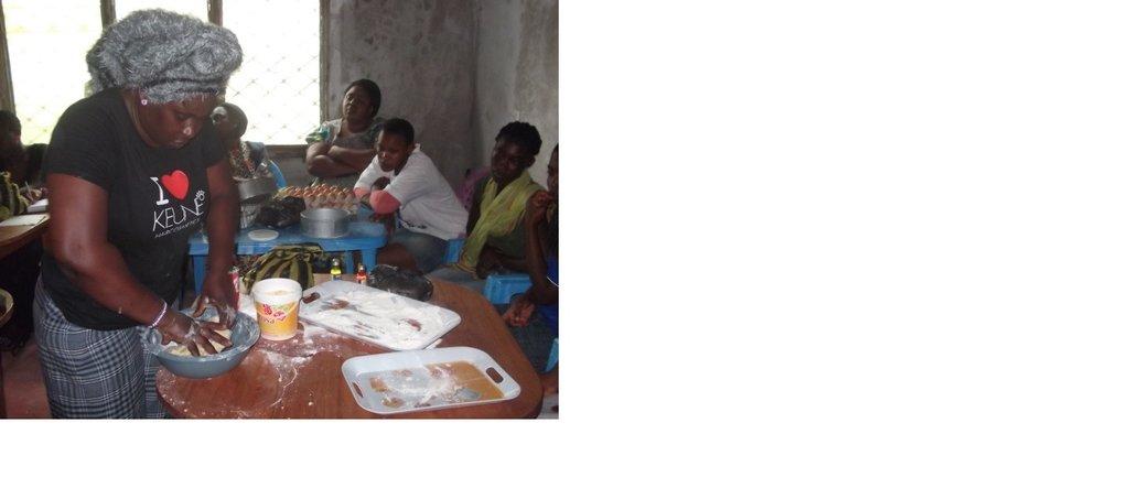 Preparing Cassava flour for Pastries