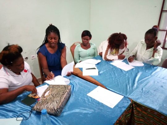 training on entrepreneurship at Reach Outs office