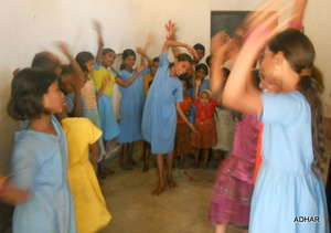 Children dancing at a Children's Club