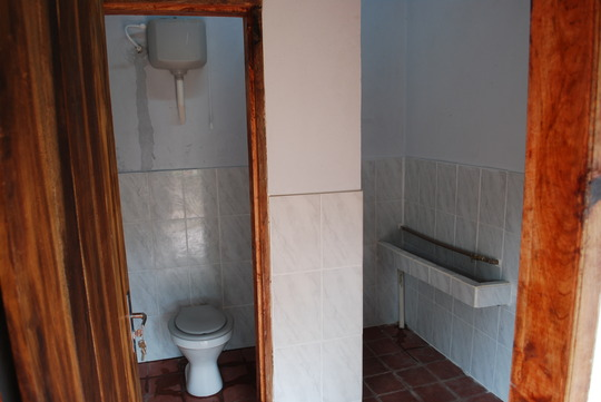 Interior view of the male bathroom