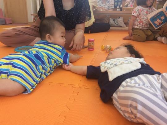 Babies' Heart-Warming Interaction