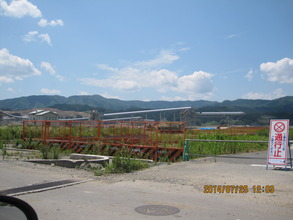Sand Conveyor for Lifting up Land Rikuzen Takata